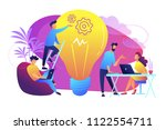 people working in friendly open ... | Shutterstock .eps vector #1122554711