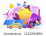 people around huge lamp... | Shutterstock .eps vector #1122554894