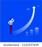 businessman is looking up at... | Shutterstock .eps vector #1122557639