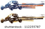 racing sand car with grunge... | Shutterstock .eps vector #112255787