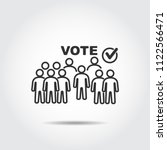 people vote icon   Shutterstock .eps vector #1122566471