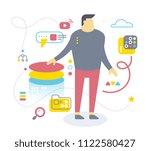 flat style design of office... | Shutterstock .eps vector #1122580427