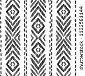 tribal seamless pattern. black... | Shutterstock .eps vector #1122581144