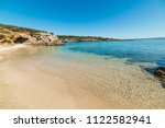 Clear water in Alghero shoreline. Sardinia, Italy