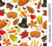 traditional thanksgivin day... | Shutterstock . vector #1122593375