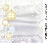 christmas balls and snowflake... | Shutterstock . vector #1122597365
