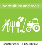 agriculture and tools | Shutterstock .eps vector #1122600161