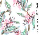 jasmine seamless pattern.... | Shutterstock . vector #1122611444
