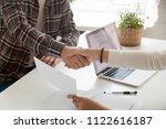 close up of businesswoman... | Shutterstock . vector #1122616187