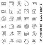 thin line vector icon set  ...   Shutterstock .eps vector #1122618041