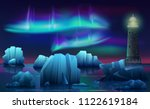 vector winter landscape of... | Shutterstock .eps vector #1122619184