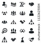 set of vector isolated black... | Shutterstock .eps vector #1122625004