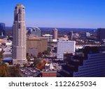 Cityscape of Buckhead District, Atlanta, Fulton County, Georgia