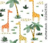 creative seamless childish...   Shutterstock .eps vector #1122625121