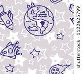 space   star   spaceship  ... | Shutterstock .eps vector #1122625799