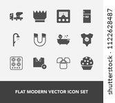 modern  simple vector icon set... | Shutterstock .eps vector #1122628487