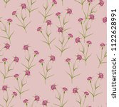 seamless floral pattern with... | Shutterstock .eps vector #1122628991