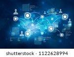 2d illustration business... | Shutterstock . vector #1122628994