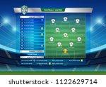 scoreboard broadcast starting... | Shutterstock .eps vector #1122629714