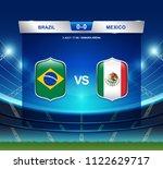 brazil vs mexico scoreboard... | Shutterstock .eps vector #1122629717