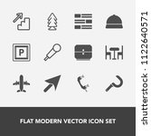modern  simple vector icon set... | Shutterstock .eps vector #1122640571