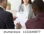multiracial male hr managers... | Shutterstock . vector #1122640877