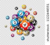 lottery balls on transparent... | Shutterstock .eps vector #1122648551