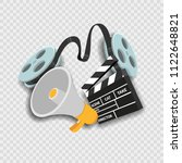 movie film concept on... | Shutterstock .eps vector #1122648821