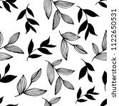 pattern with elegant hand draw... | Shutterstock . vector #1122650531