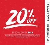 20 percent off sale special... | Shutterstock .eps vector #1122659951