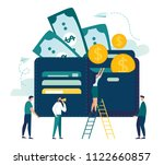 vector illustration  wallet... | Shutterstock .eps vector #1122660857
