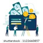 vector illustration  wallet...   Shutterstock .eps vector #1122660857