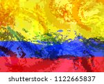 abstractly colombia flag...   Shutterstock .eps vector #1122665837