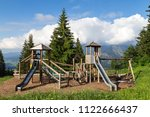 childrens playground on the... | Shutterstock . vector #1122666437