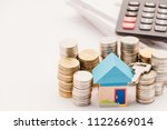 mortgage finance concept. toy... | Shutterstock . vector #1122669014