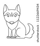 dog. puppy of the husky. a cute ...   Shutterstock .eps vector #1122669434