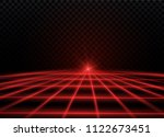 abstract red laser beam....   Shutterstock .eps vector #1122673451