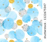 seamless dotted pattern with... | Shutterstock .eps vector #1122675347