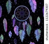 dreamcatcher with colorful... | Shutterstock .eps vector #1122679307