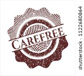 red carefree distressed rubber... | Shutterstock .eps vector #1122680864