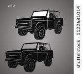 vintage offroad truck vector...   Shutterstock .eps vector #1122681014