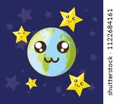 cute earth planet design | Shutterstock .eps vector #1122684161