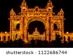 view of mysore palace entrance... | Shutterstock . vector #1122686744