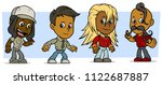 cartoon funny boy and girl... | Shutterstock .eps vector #1122687887