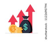 income increase strategy.... | Shutterstock . vector #1122690794