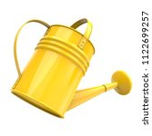 yellow color watering pot... | Shutterstock . vector #1122699257