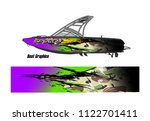 boat livery graphic vector.... | Shutterstock .eps vector #1122701411