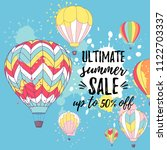vector illustration  summer... | Shutterstock .eps vector #1122703337