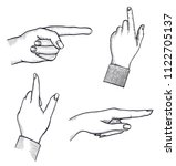 man s hand  index finger shows... | Shutterstock . vector #1122705137