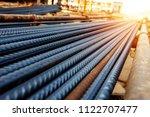 steel rebar for reinforcement... | Shutterstock . vector #1122707477